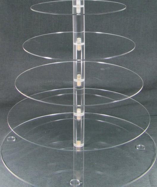 Rak Display Akrilik Bertingkat Lingkaran