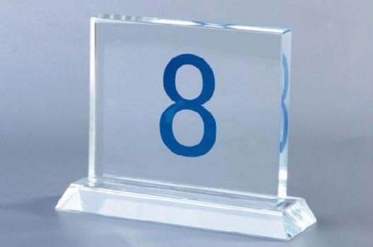 Nomor Meja Kotak
